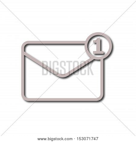 Simple image unread mail icon on white background