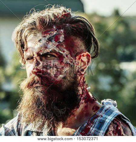 Bearded Zombie Man