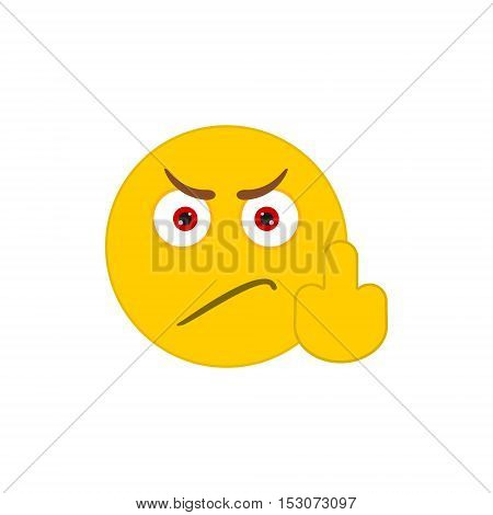 Angry smile vector icon on white background