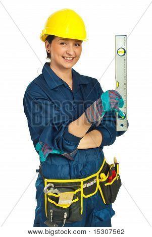 Happy Worker Woman