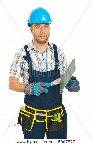 Serious Repairman With Notched