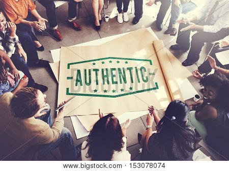 Authentic Advertising People Meeting Concept