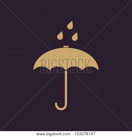 The umbrella bag icon. Rain protection symbol. Flat Vector illustration