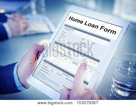 Home Loan Financial Support Concept
