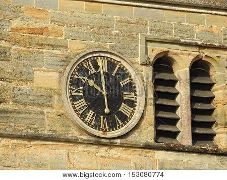 Clock at Rusper Church West Sussex England
