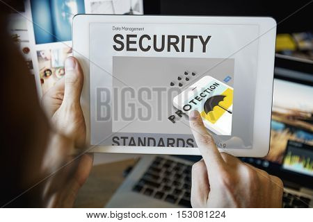 Technology digital Tablet Security Graphic Concept