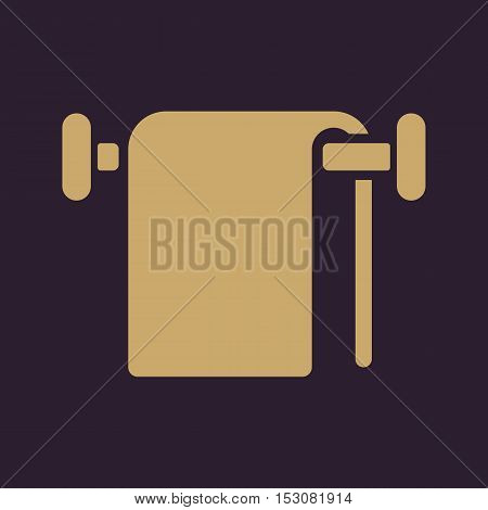 The towel icon. Bathroom symbol. Flat Vector illustration