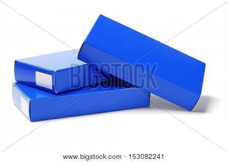 Medicine Cardboard Boxes on White Background