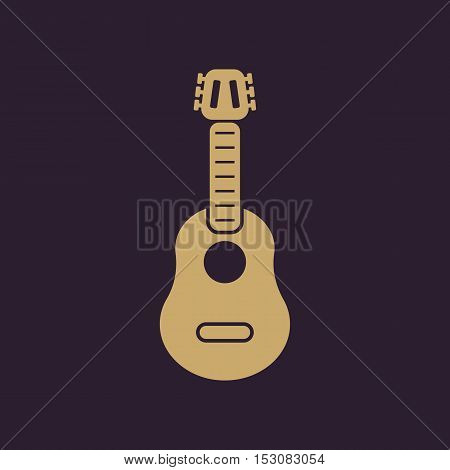 The guitar icon. Music and guitarist, musician symbol. Flat Vector illustration