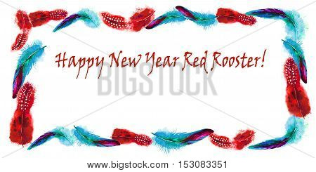 Year 2017 new chinese chicken lunar bird concept of the Rooster.