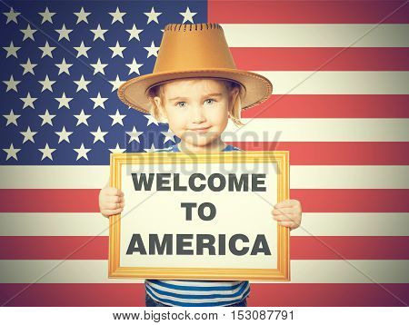 Text Welcome To America.