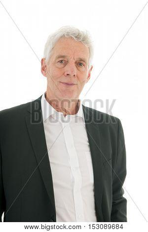 Senior business man studio portrait
