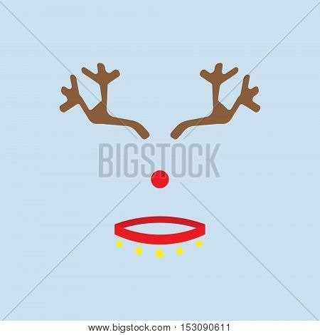 Christmas deer vector icon. Christmas deer vector line icon. Button for websites, elements for booklets, leaflets, brochures, logos, etc.