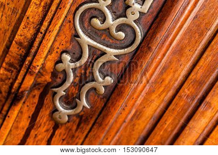 Vintage Keyhole On Wooden Surface