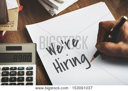 We Are Hiring Job Concept