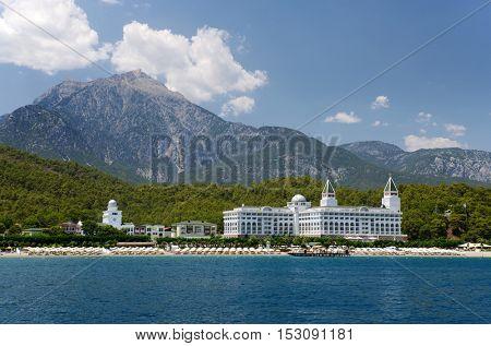 Beach and coastline Tekirova, Turkey