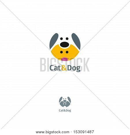 Cat And Dog Vector Logo Template