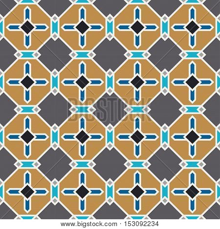 Color Seamless brown Wallpaper. Vintage Pattern. Retro Background