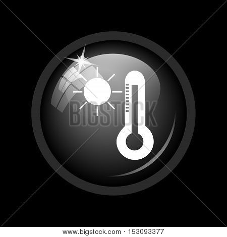 Sun And Thermometer Icon