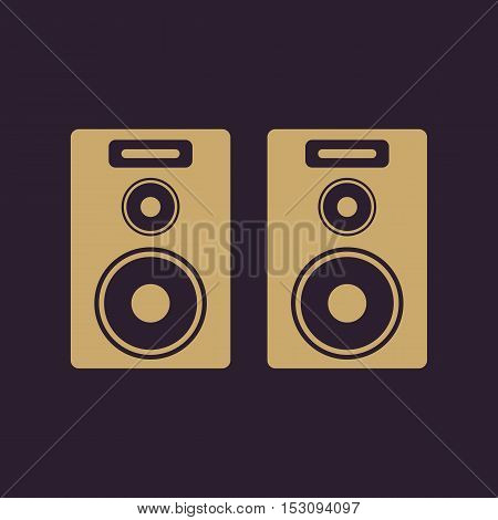 The audio icon. Speaker and music, sound, stereo symbol. Flat Vector illustration