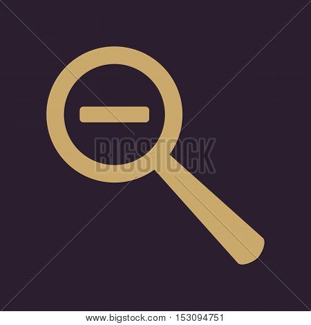 The Magnifier Glass. Search icons. Vector Flat