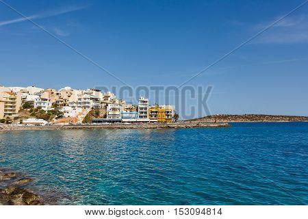 Cityscape of Agios Nikolaos Crete Island Greece