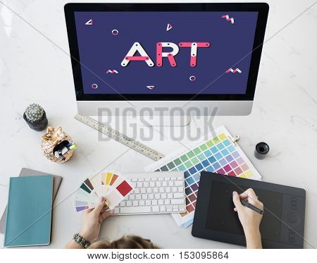 Creative Computer Technology Art Graphic Concept