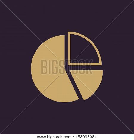 The diagram icon. Chart and infograph, infographic, graph, flowchart symbol. Flat Vector illustration