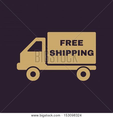 The free shipping icon. Delivery and transportation, transit symbol. Flat Vector illustration