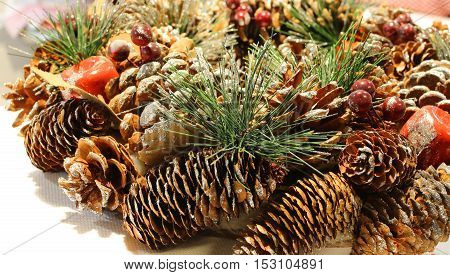 Christmas Decoration To Decorate The Centerpieces With Pine Cone