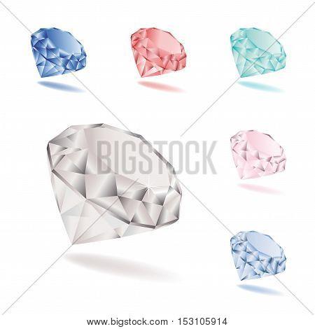Vector set of color diamonds - illustration