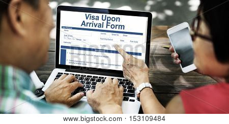 Business People Visa Arrival Form Concept