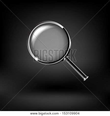 Magnifying glass isolated on white background vector icon
