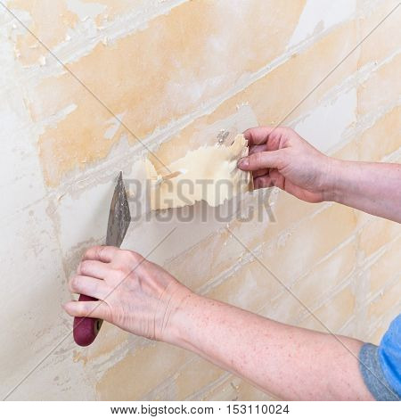 Cleaning Wall From Backing Before Wallpapering
