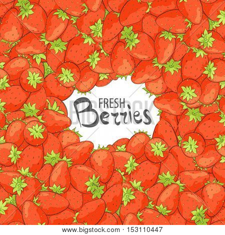 Fresh perfect strawberry on a white background