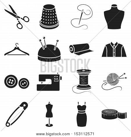 Atelie set icons in black style. Big collection atelie vector symbol stock