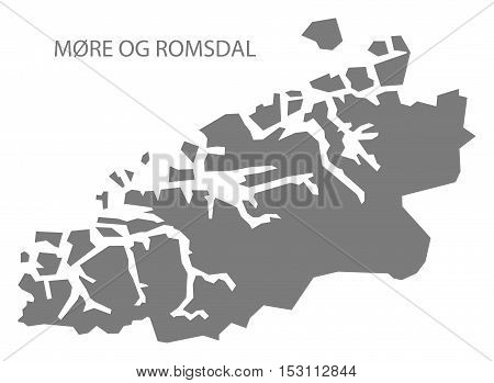 More og Romsdal Norway Map grey illustration high res