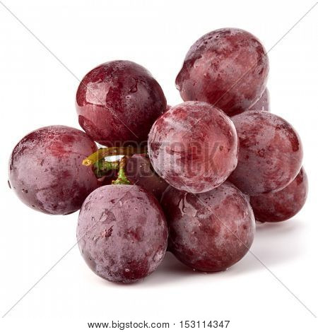 Red grape berry bunch isolated on white background cutout