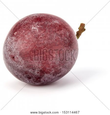 Red grape berry  isolated on white background cutout