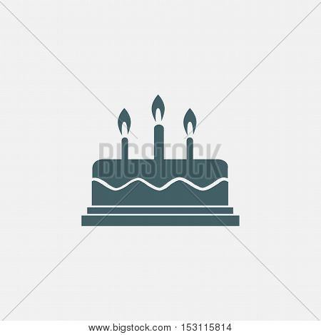 line cake icon isolated on white background