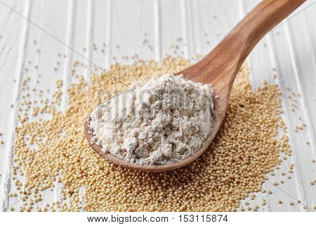 Spoon Of Amaranth Seeds Flour