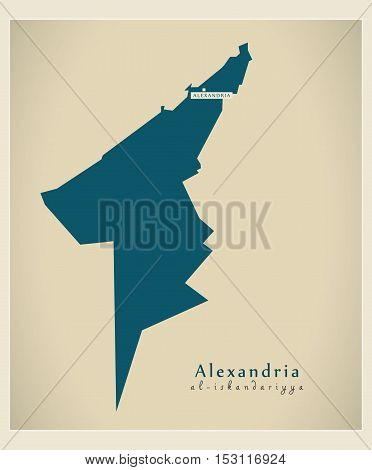 Modern Map - Alexandria EG vector high res