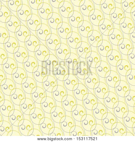 Seamless vector ornament. Modern geometric pattern with repeating golden and silver waves