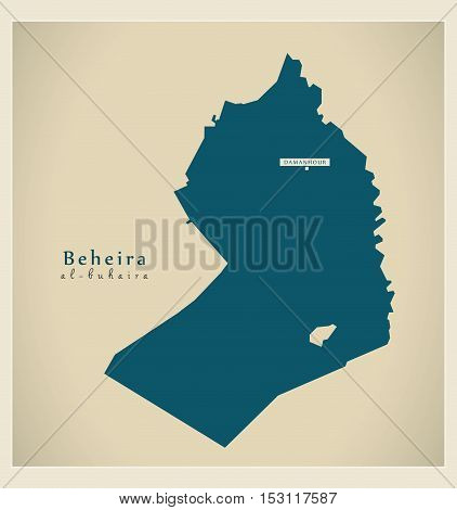 Modern Map - Beheira EG vector high res
