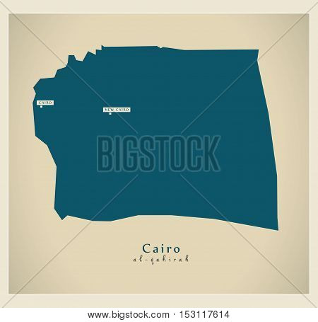 Modern Map - Cairo EG vector high res