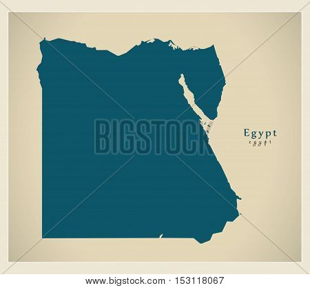 Modern Map - Egypt EG vector high res