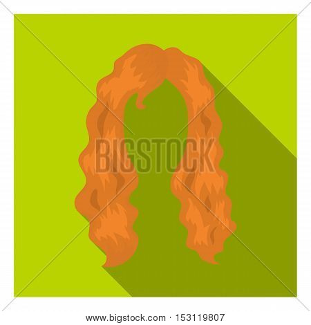 Woman's hairstyle icon in flat style isolated on white background. Beard symbol vector illustration.