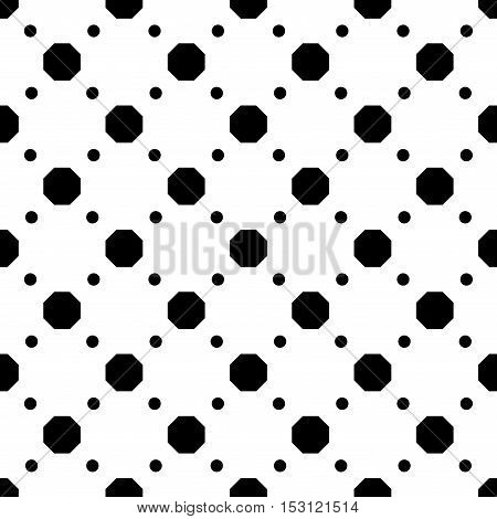 Polka dot geometric seamless pattern. Fashion graphic background design. Modern stylish abstract texture. Monochrome template for prints textiles wrapping wallpaper etc Stock VECTOR illustration