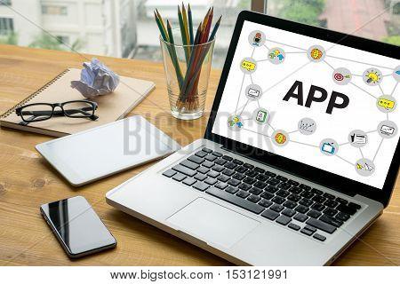 App Drawn Media Icons