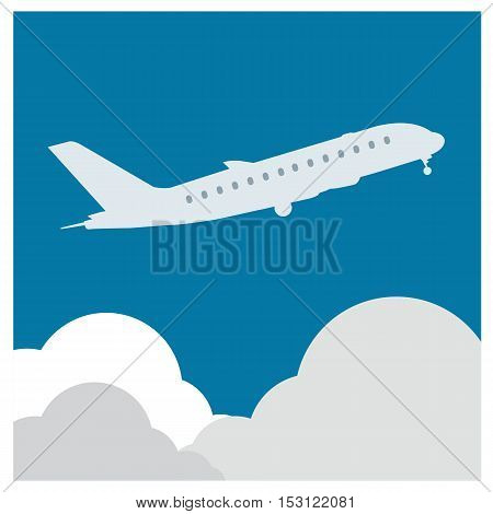 airplane flight tickets air fly cloud sky blue travel background takeoff
